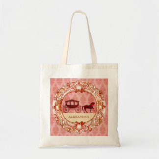 Wedding Horse & Carriage - Custom Text Tote Bag