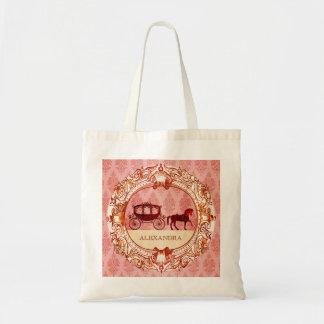 Wedding Horse & Carriage - Custom Text Tote Bag