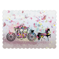 Wedding Horse &amp; Carriage Flowers &amp; Butterflies 2 Personalized Invitations (<em>$2.30</em>)