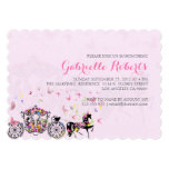Wedding Horse & Carriage Flowers & Butterflies 2 Personalized Invitations