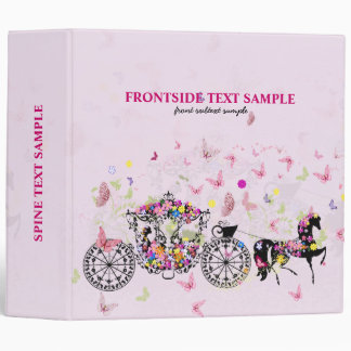 Wedding Horse & Carriage Flowers & Butterflies 3 Ring Binder