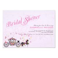 Wedding Horse &amp; Carriage Flowers &amp; Butterflies 5x7 Paper Invitation Card (<em>$2.21</em>)
