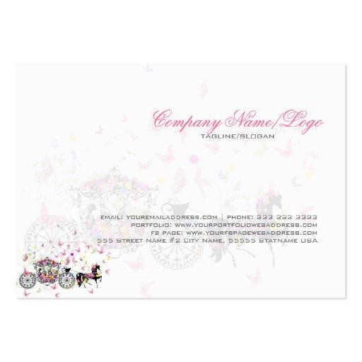 Wedding Horse & Carriage Flowers & Butterflies Business Card (back side)