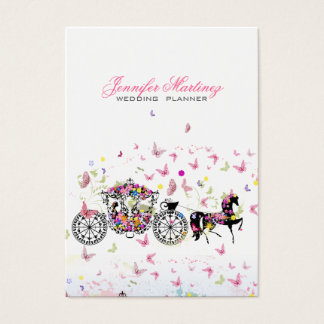 Wedding Horse & Carriage Flowers & Butterflies Business Card