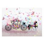 Wedding Horse & Carriage Flowers & Butterflies Card