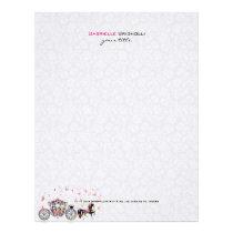 Wedding Horse & Carriage Flowers & Butterflies Letterhead