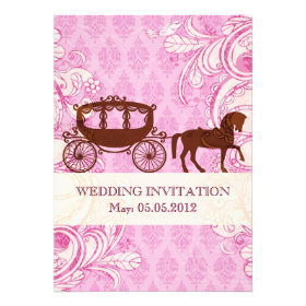 Wedding Horse & Carriage - Wedding Invite Invitations