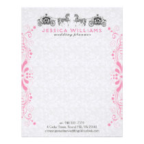 Wedding Horse & Carriage With White Damasks Letterhead