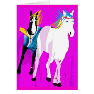 Wedding Horses Card