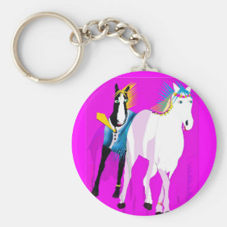 Wedding Horses Keychain