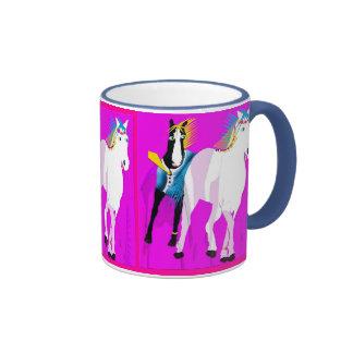 Wedding Horses Ringer Coffee Mug