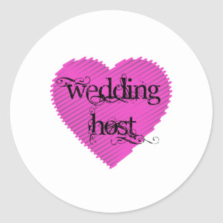 Wedding Host Classic Round Sticker