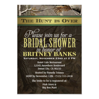 Wedding Hunting Camo Bridal Shower Invitations