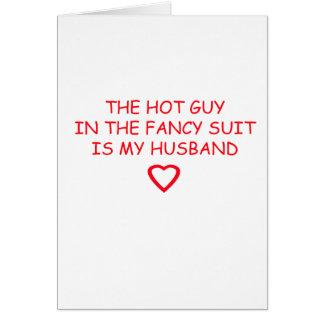 WEDDING HUSBAND STUFF CARD