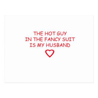 WEDDING HUSBAND STUFF POSTCARD