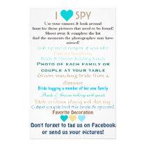 Wedding I Spy Flyer