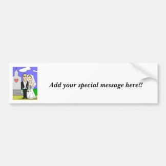 Wedding illustrations bumper sticker for Elizabeth