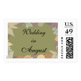 Wedding In August Postage Stamp