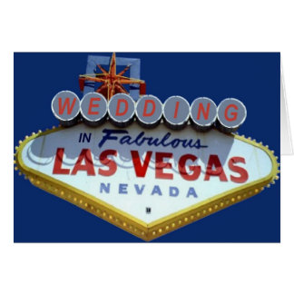 WEDDING IN FABULOUS LAS VEGAS CARD