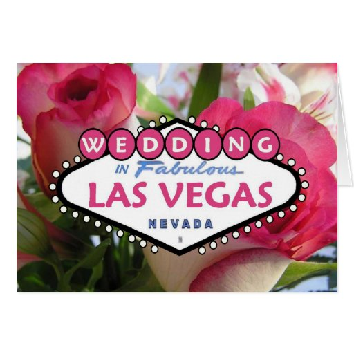 WEDDING In Fabulous Las Vegas Card Zazzle