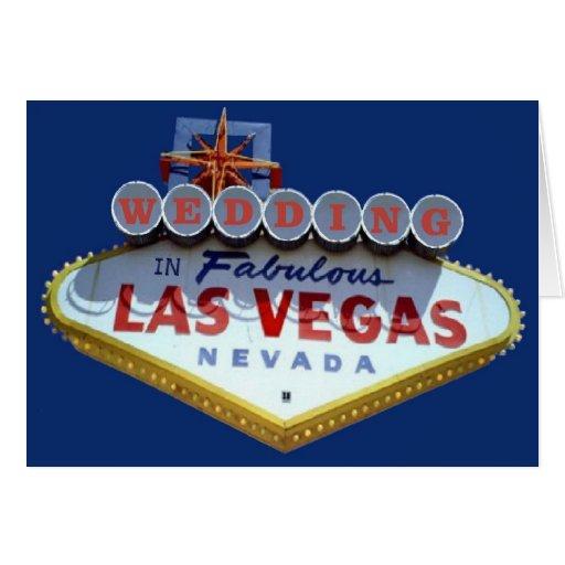 WEDDING In Fabulous Las Vegas Cards Zazzle