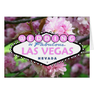 WEDDING In Fabulous Las Vegas Cherry Blossom Card