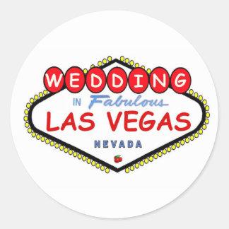 WEDDING In Fabulous Las Vegas Cherry logo sticker