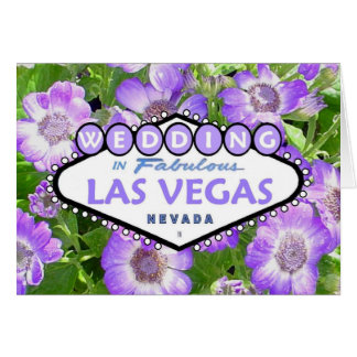 WEDDING In Fabulous Las Vegas Floral Card