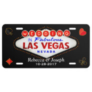 Wedding In Fabulous Las Vegas Getting Married License Plate at Zazzle