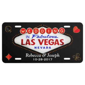 Wedding in Fabulous Las Vegas Getting Married License Plate