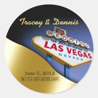 Wedding in Fabulous Las Vegas Metallic Gold Sticker