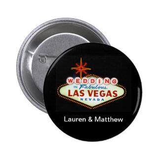 Wedding in Fabulous Las Vegas Pinback Button