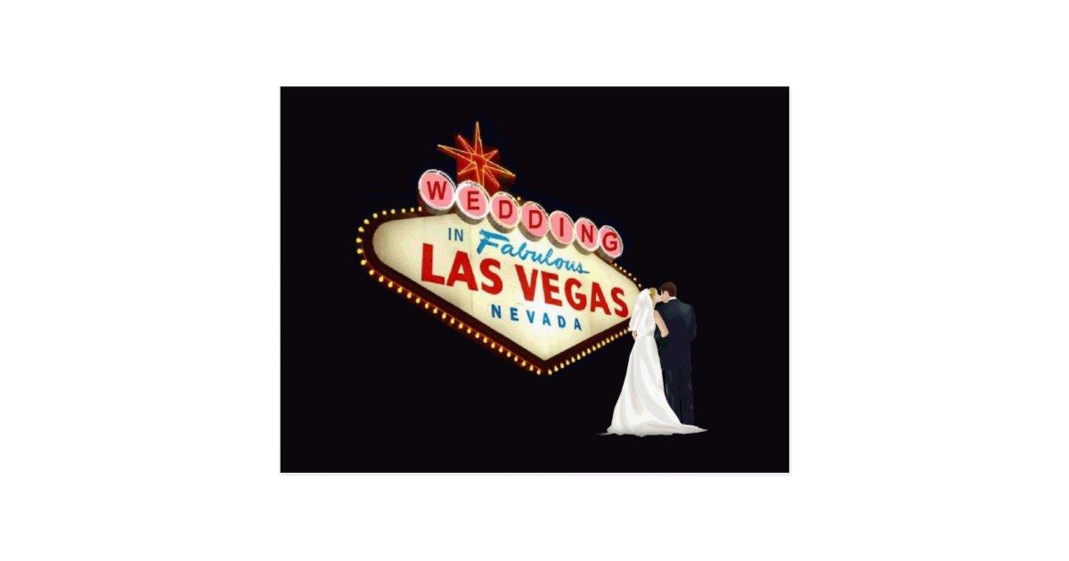 WEDDING In Fabulous Las Vegas Postcard Zazzle