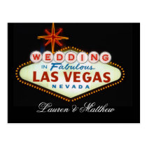 Wedding in Fabulous Las Vegas Postcard
