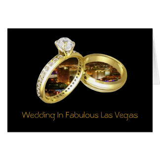 "Wedding In Fabulous Las Vegas ""RINGS"" Card"