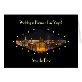 "Wedding in Fabulous Las Vegas ""Save the Date"" Card"