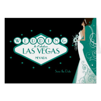"Wedding in Fabulous Las Vegas ""Save the Date""Card Card"