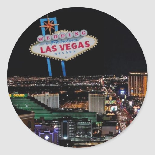 Wedding in fabulous las vegas sticker zazzle for Arts and crafts stores in las vegas