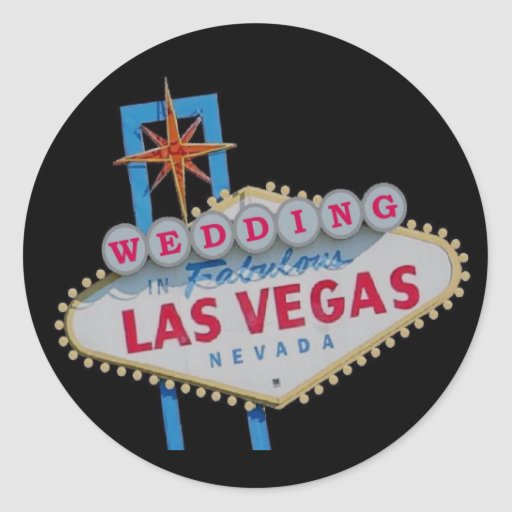 WEDDING In Fabulous Las Vegas Sticker Zazzle
