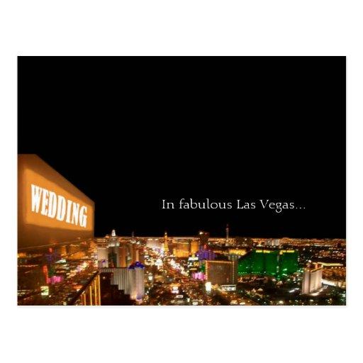 WEDDING In fabulous Las Vegas Strip Postcard Zazzle