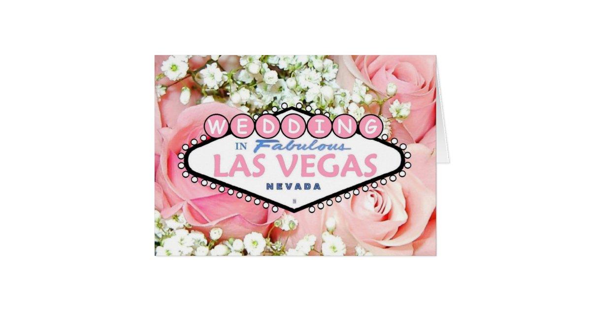 Wedding Of Flowers Las Vegas : Wedding in fabulous las vegas tiny flowers card zazzle