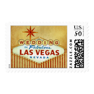 Wedding in Fabulous Las Vegas - Vintage Postage