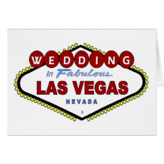 Wedding in Las Vegas Announcement Card
