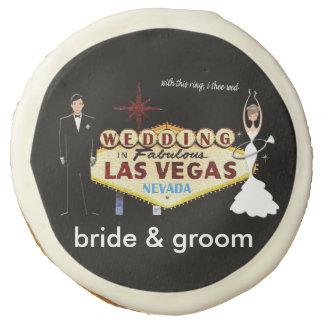 WEDDING In Las Vegas bride & groom COOKIES