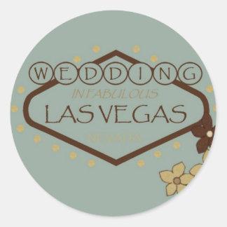WEDDING In Las Vegas floral Sticker