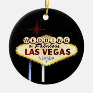 WEDDING In Las Vegas Keepsake Ornament
