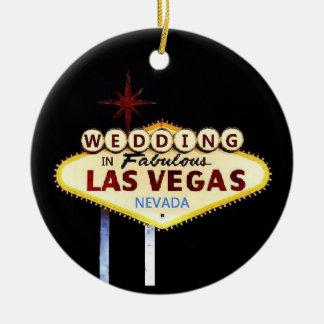 WEDDING In Las Vegas Keepsake Ornament