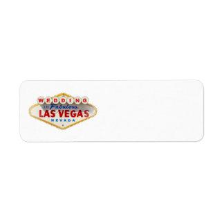 Wedding in Las Vegas Label