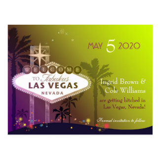 Wedding in Las Vegas Nevada Save the Date Postcard