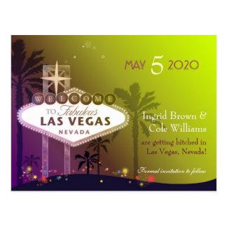 Wedding in Las Vegas Nevada Save the Date Postcard
